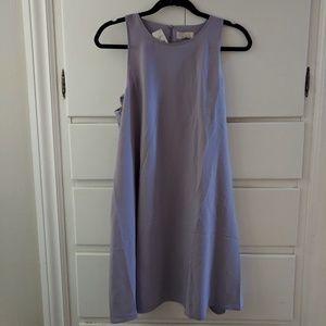 Lilac LOFT shift dress with ruffled back